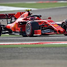 Formula 1: Ferrari's Charles Leclerc wins first ever pole with lap record at Bahrain GP