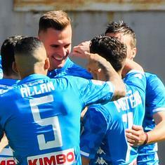 Serie A: Napoli crush AS Roma, Milinkovic-Savic scores as Lazio sink Inter Milan