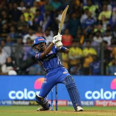 Watch: Hardik Pandya pulls off 'very special' helicopter shot against CSK with Dhoni watching