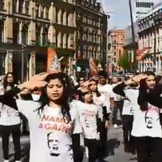 Watch: Indians abroad get into campaign mode with a flash dance for Narendra Modi