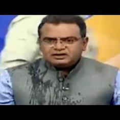 Watch: Congress leader throws a glass of water at BJP spokesperson during live television debate