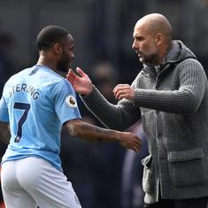 Raheem Sterling is not on same level as Lionel Messi and Cristiano Ronaldo yet, says Pep Guardiola