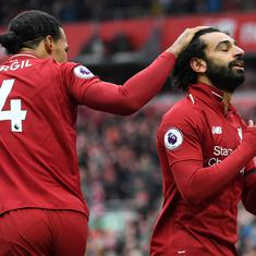 Premier League: Salah-inspired Liverpool beat Chelsea 2-0 to go two points clear of Manchester City