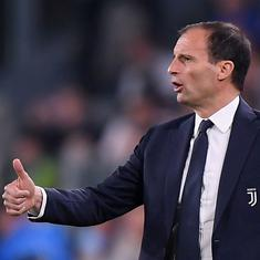 Massimiliano Allegri confirms he is staying at Juventus next season despite Champions League failure