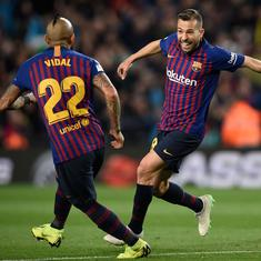 La Liga: Barcelona ride on Lenglet, Alba goals to beat Real Sociedad 2-1 and close in on title