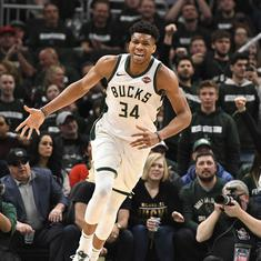 NBA playoffs: Milwaukee Bucks first team to reach final four after crushing win over Boston Celtics