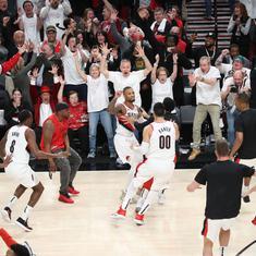 NBA playoffs: Lillard's buzzer beater eliminates Thunder; Sixers, Raptors advance