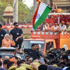 Lok Sabha polls: PM Narendra Modi holds roadshow in Varanasi day before filing nomination