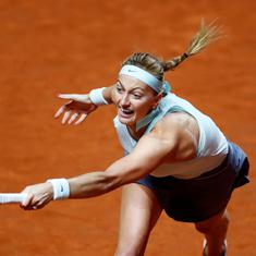 French Open: Sixth seed Petra Kvitova withdraws after injury to left arm