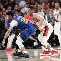 NBA playoffs: Blazers lead series 2-1 after beating Nuggets in quadruple-overtime thriller