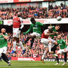 Premier League: Arsenal's top-four hopes all but over with 1-1 home draw against Brighton