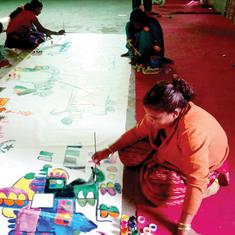 In the shadow of Delhi's Jama Masjid, an art project is helping homeless women 'map their lives'
