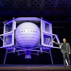 Amazon founder Jeff Bezos reveals mock-up of new lunar lander spacecraft