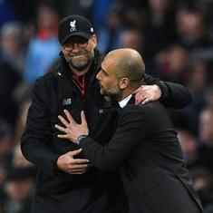 Coronavirus: Managers Jurgen Klopp, Pep Guardiola question logic of playing football without fans