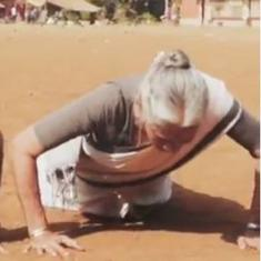Watch: Milind Soman's 80-year-old mother does 16 push-ups effortlessly