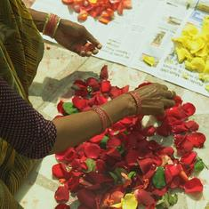 Eco India: Scraps from Delhi's flower market have transformed these women waste-pickers into artists
