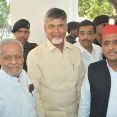 Chandrababu Naidu meets Rahul Gandhi, Akhilesh Yadav, Mayawati for talks of a post-poll alliance