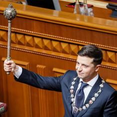 Ukraine: Comedian Volodymyr Zelenskiy sworn in as president