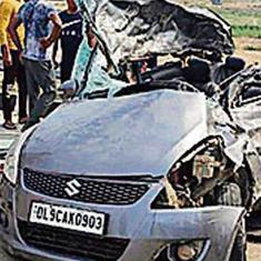 Uttar Pradesh: Four MBBS students killed in highway accident in Baghpat district, one injured