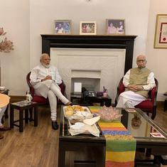 Day after historic win, Modi and Amit Shah meet BJP veterans LK Advani, Murli Manohar Joshi