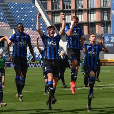 Only Italian club left in Champions League, Atalanta shoulder hopes of virus-hit Bergamo