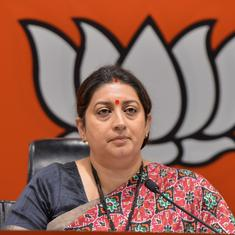 'Rahul Gandhi declared war on people,' says Smriti Irani on his remark about farmers' protest