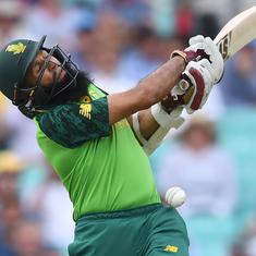 World Cup: South Africa's Amla retires hurt after being hit on helmet by Archer bouncer