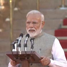 'Honoured to serve India,' says Narendra Modi after taking oath, 24 Cabinet ministers also sworn in