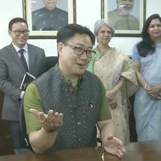 Will look to promote traditional and modern sports, says new Youth Affairs Minister Kiren Rijiju