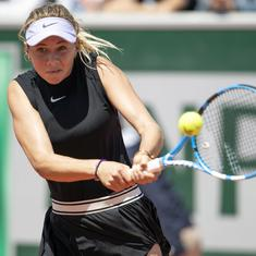 French Open: Amanda Anisimova becomes first player born in 2000s to reach a Grand Slam quarter-final