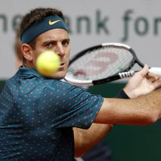 Juan Martin del Potro out of Wimbledon after suffering second kneecap fracture in a year
