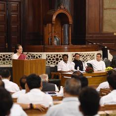 Sonia Gandhi elected leader of Congress Parliamentary Party, asks MPs not to let their guard down