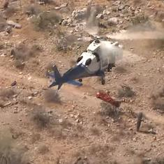 Watch: Helicopter rescue goes off-track when stretcher carrying woman starts spinning mid-air