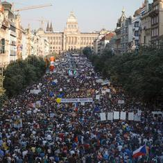 Watch: Czech Republic's protest to oust prime minister is the biggest the country has seen since '89