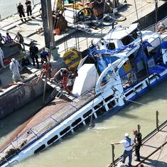 Hungary: Four more bodies recovered as police lift capsized cruise boat from river