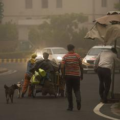 Delhi: Dust storm brings relief from heat, 27 flights diverted from IGI Airport