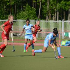 Hockey: Belarus senior women's team beat India juniors by 4-1, take 2-1 series lead