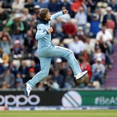 क्रिकेट विश्व कप : इंग्लैंड ने घातक गेंदबाजी के दम पर वेस्टइंडीज की पारी 212 के योग पर समेटी