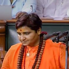Opposition leaders create ruckus during oath taking of Pragya Singh Thakur in Lok Sabha