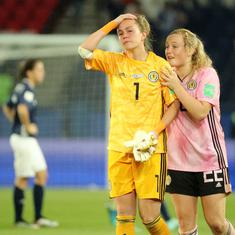 Women's World Cup: Scotland crash out after blowing three-goal lead, England squeeze past Japan