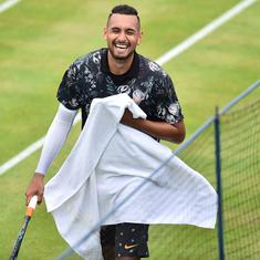 Tennis: Nick Kyrgios fined $20,000 for disrespecting referee, throwing racquet at Queen's tournament