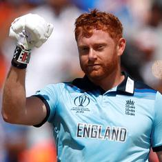 Bairstow's sweep strategy, Rohit's third World Cup ton and other stats from England's win over India