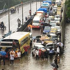 Mumbai: Several local trains delayed, cancelled due to heavy rainfall, road traffic disrupted