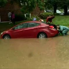 Watch: Scenes from flash floods in Washington DC prompt the response 'climate change is real'