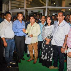 गोवा : कांग्रेस छोड़कर भाजपा में शामिल हुए तीन विधायकों ने मंत्री पद की शपथ ली