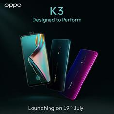 Oppo India gears up for Oppo K3 launch on July 19