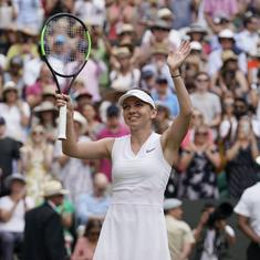 Simona Halep defeats Elina Svitolina in straight sets to reach first Wimbledon final