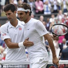 Watch: A look at Roger Federer and Novak Djokovic's past Wimbledon meetings ahead of Sunday's final