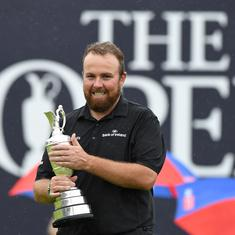 Shane Lowry wins emotional first major at British Open