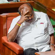 Karnataka: Kumaraswamy blames 'internal bickering' in Congress for his government's collapse